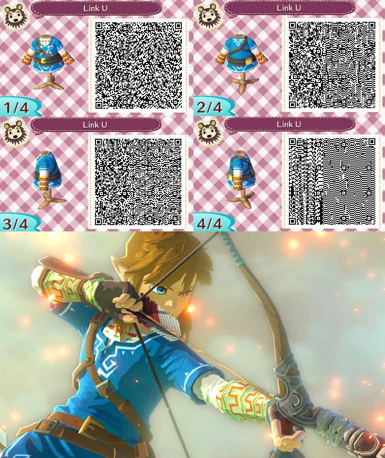 Link Zelda Wii U - ACNL QR