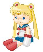 Sailor Moon Pixel Plushie by Kidiu