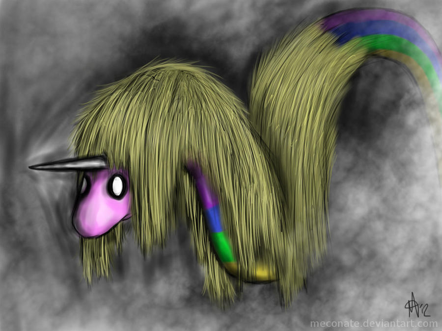 Lady Rainicorn in gloom by meconate