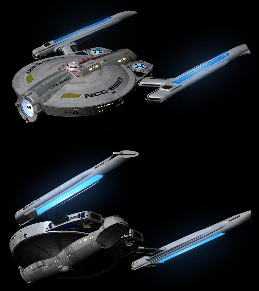 WIP: USS Beagle, Final textures by harroldsheep