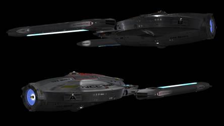 USS Beagle, finished interiors. by harroldsheep