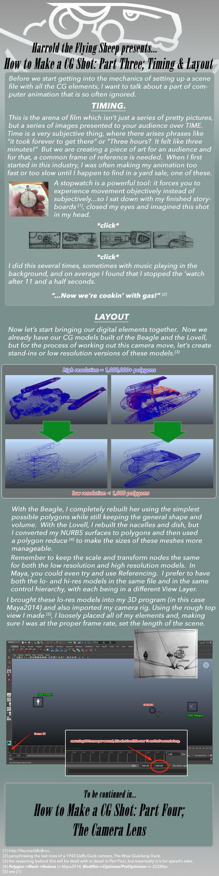 How to Make a CG Shot: Part 3, Timing+Layout by harroldsheep