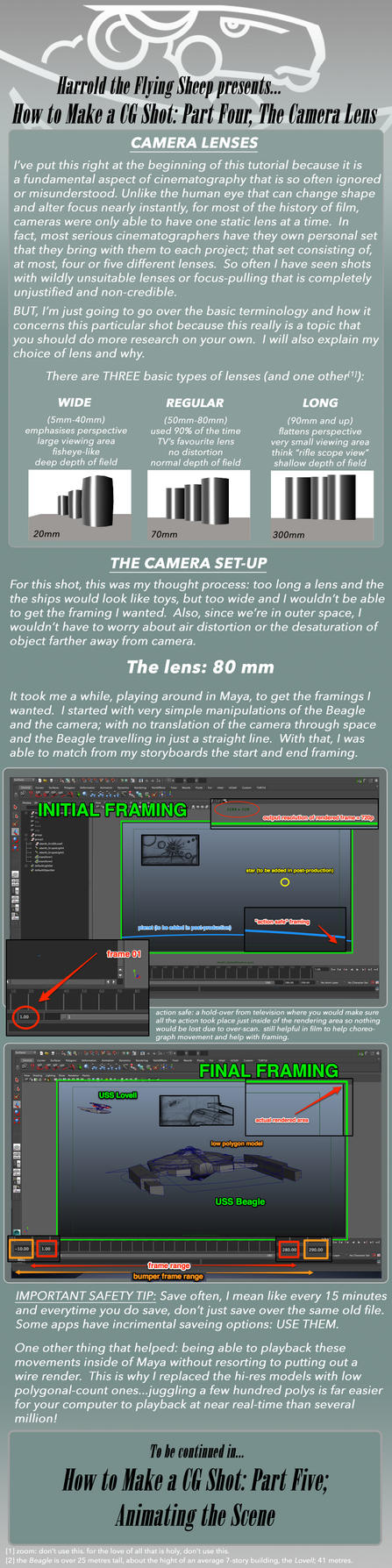 How to Make a CG Shot: Part 4, the Camera Lens by harroldsheep