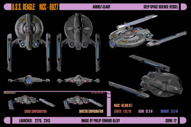 USS Beagle, NCC-6927, final ortho by harroldsheep