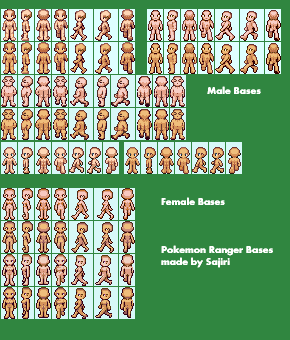 Pokemon Dusk- Sprite bases by Sajiri