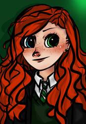 Yung Vivian, student of Hogwarts by SumitaThePurple
