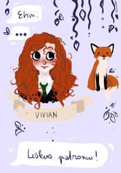 Vivian and her patronus by SumitaThePurple