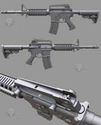 A gun, WIP #2 by Porsimo