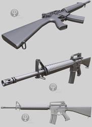 A gun, WIP #3 by Porsimo