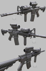 A gun, WIP #5 by Porsimo