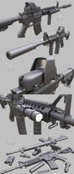 Guns, WIP #6 by Porsimo