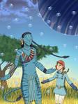 Pandora: Nausicaa and Neytiri by ErinPrimette