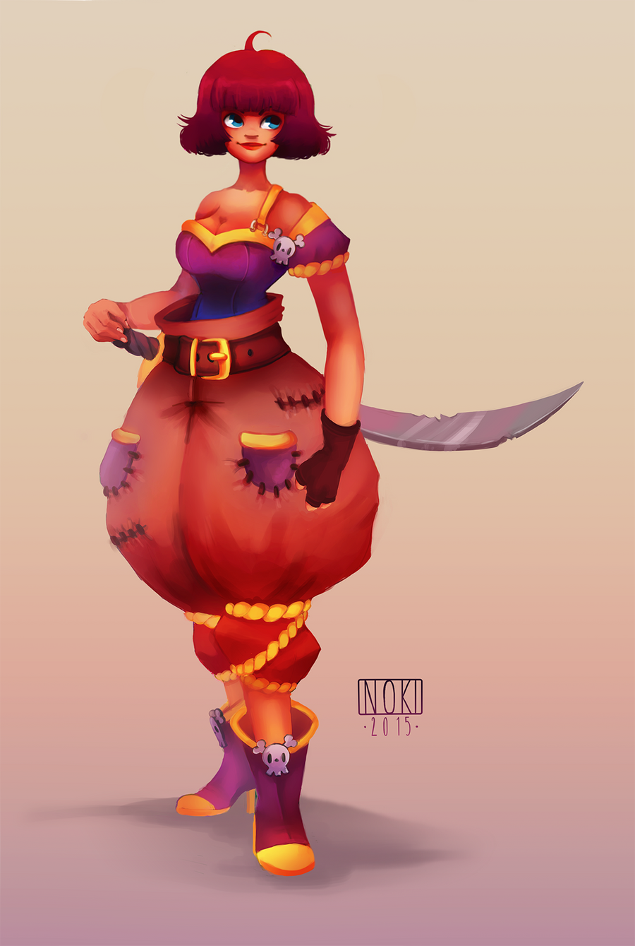 Character Design Competition 2015 : Character design contest pirate by nokiramaila on deviantart