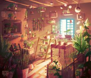 The flower shop - Inside by SophieHei