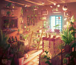 The flower shop - Inside