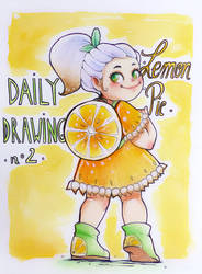 Daily Drawing 02. Lemon Pie by SophieHei