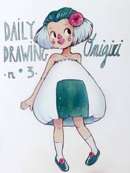 Daily Drawing 03. Onigiri by SophieHei