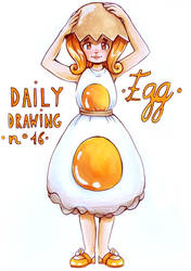 Daily Drawing 16. Egg