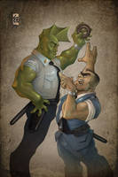 Savage Dragon VS Kankichi Ryotsu by HellboySoto