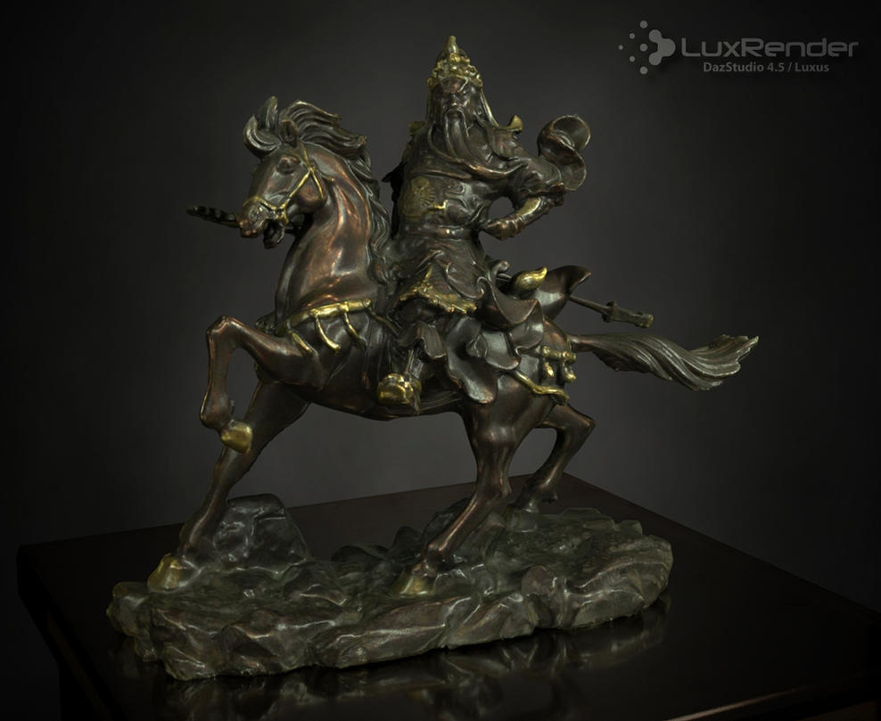 Guan Yu Statue by HellboySoto