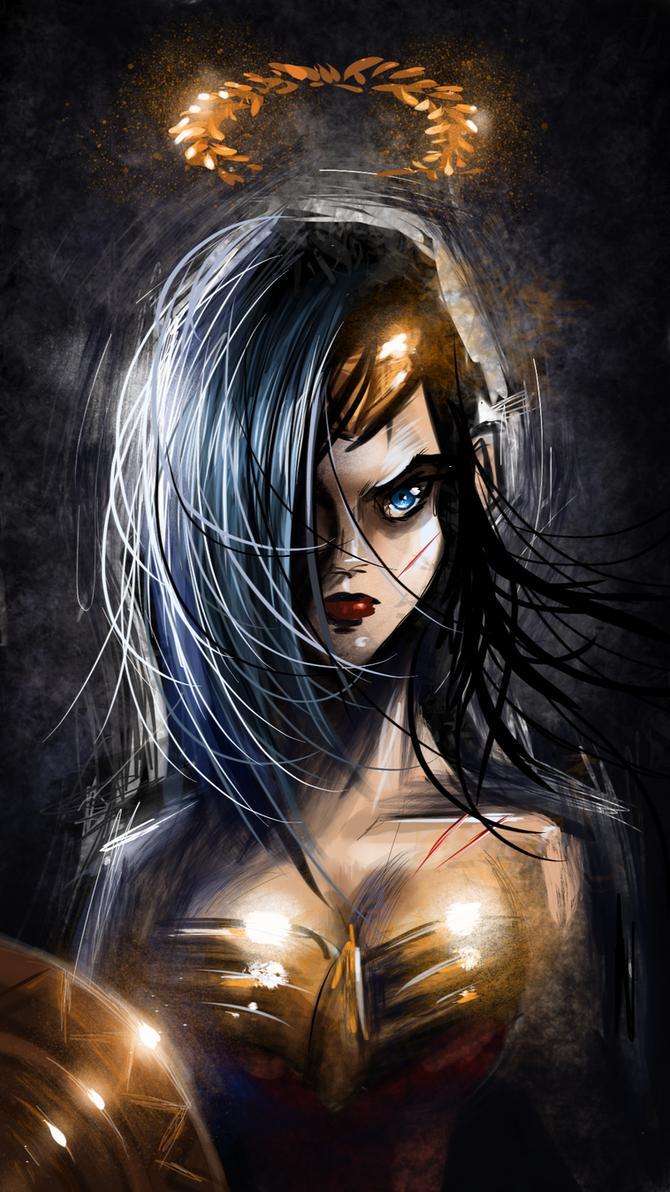 iPhone Wonder Woman by HellboySoto