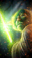 iPhone Yoda by HellboySoto