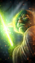 iPhone Yoda by HellboySoto