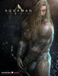 Aquaman Tattoos for Genesis 8 Male