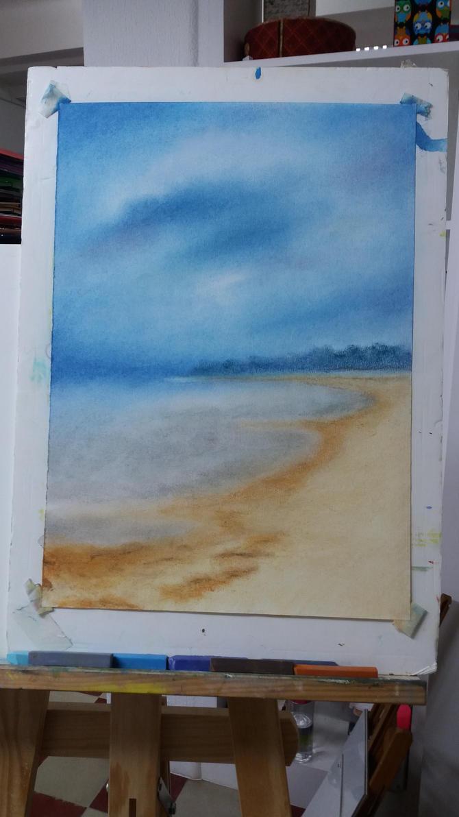 Landscape in progress by cher-o-kee