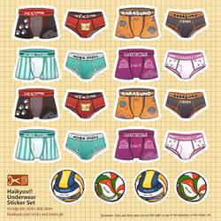 Stickers - Haikyuu Undies