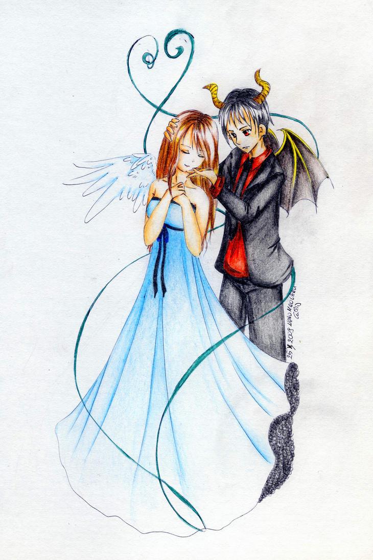 Angel And Devil By NekoMaoChan On DeviantArt