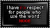 No respect for the use of NOOB by Faeth-design
