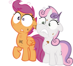 Sweetie Belle and Scootaloo Vector