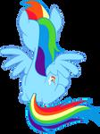 sitting Rainbow Dash's back