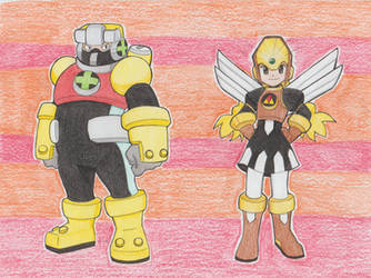 Cross Fusion Gutsman and Glyde. Commission #2 by ick25