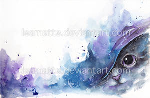 watercolor cat #2 by leamatte