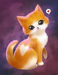 My valentine cat