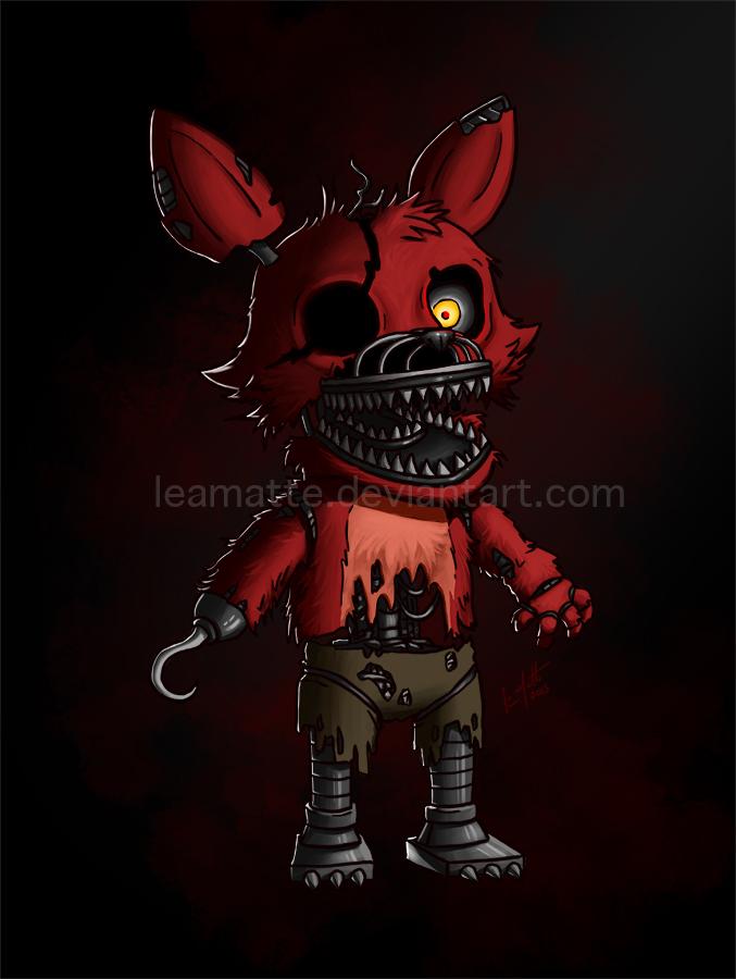 Chibi Foxy Nightmare By Leamatte On Deviantart