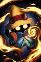 Black Mage Kitty by leamatte