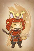 Samurai Neko by leamatte