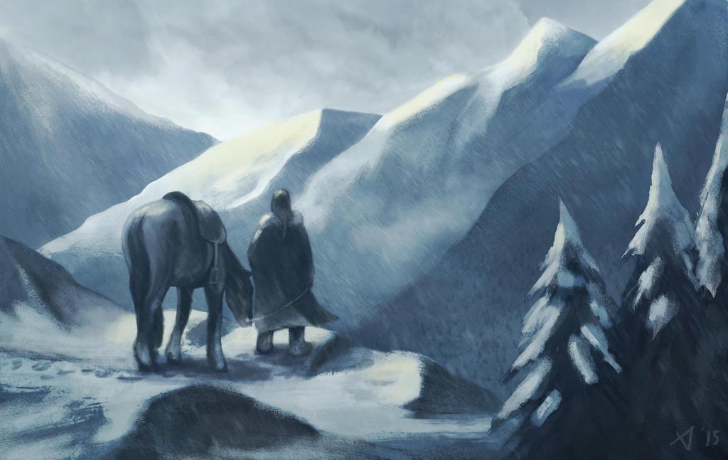 Mountains, sleets and horsies by AnnaLuminara