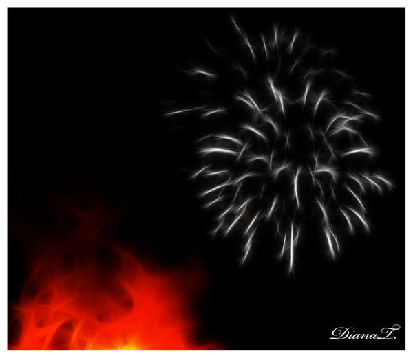 Firework art by Dee-Dee-Blue