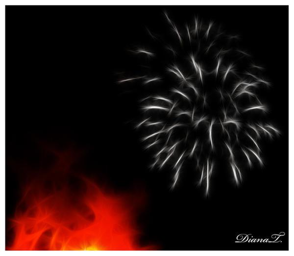 Firework art by Dee-Dee-Blue