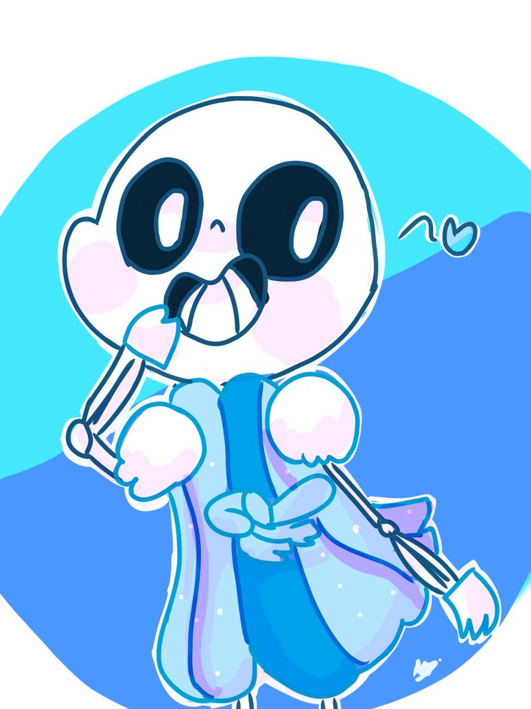 sans in mettaton's dress coz why not by SquashyQuack