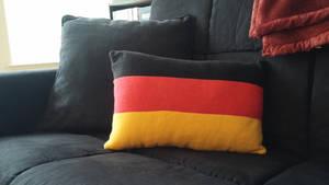 Long German Flag Pillow