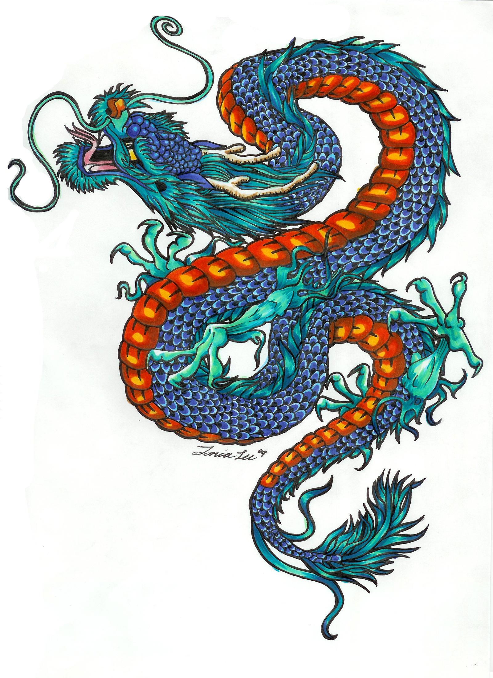 Tattoo design Dragon by