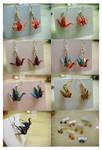 washi crane earrings FOR SALE