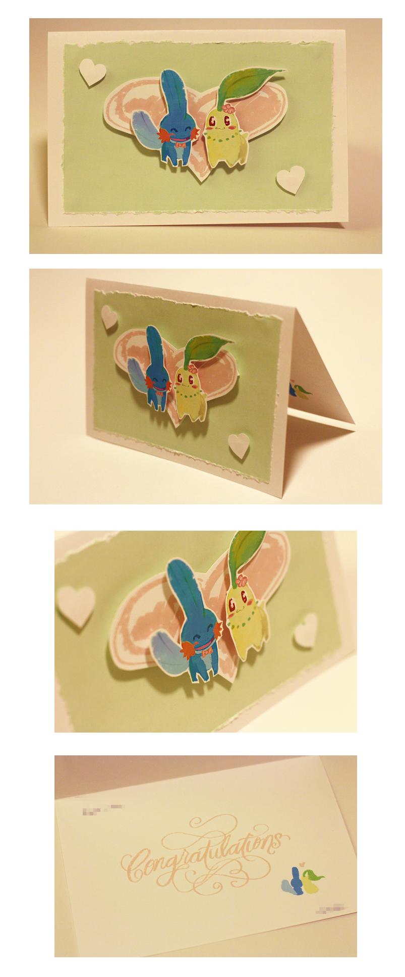 Pokemon wedding 3D card