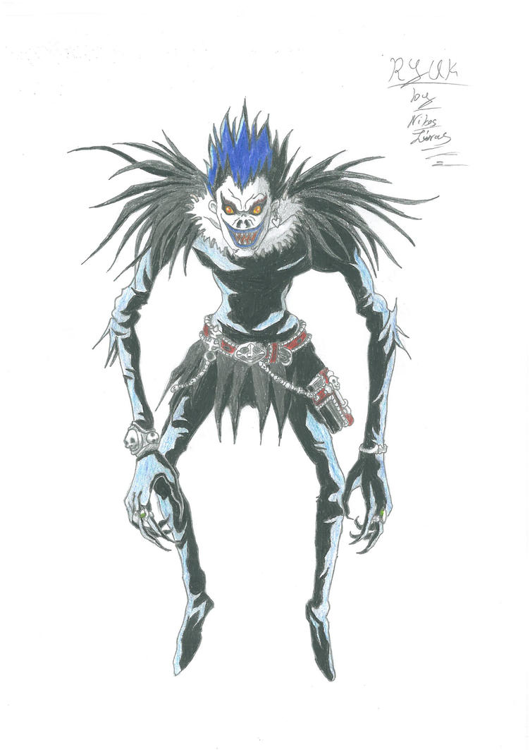 how to draw death note ryuk