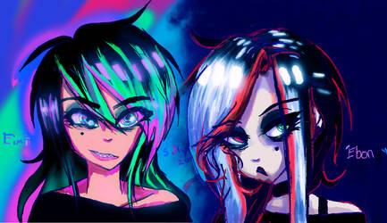 Eimi and Ebony by Imprimez